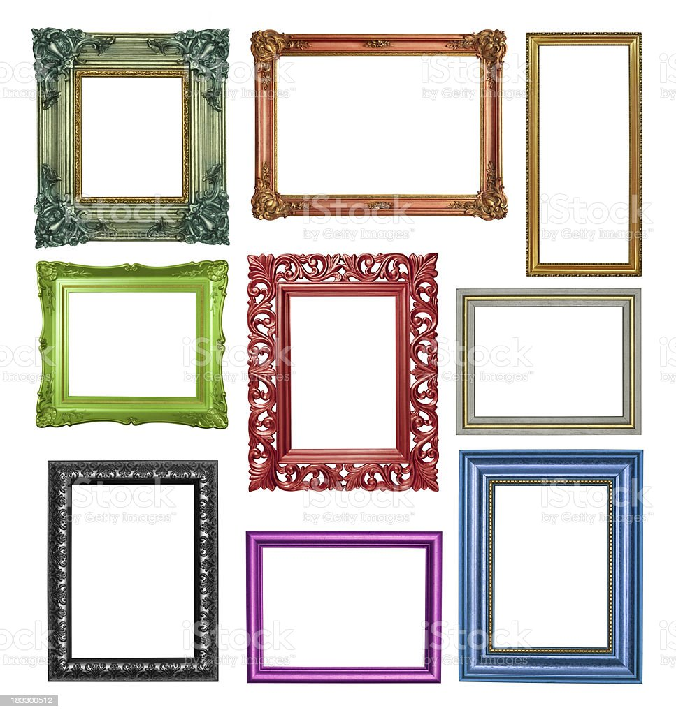 set of multi colored frames royalty free stock photo