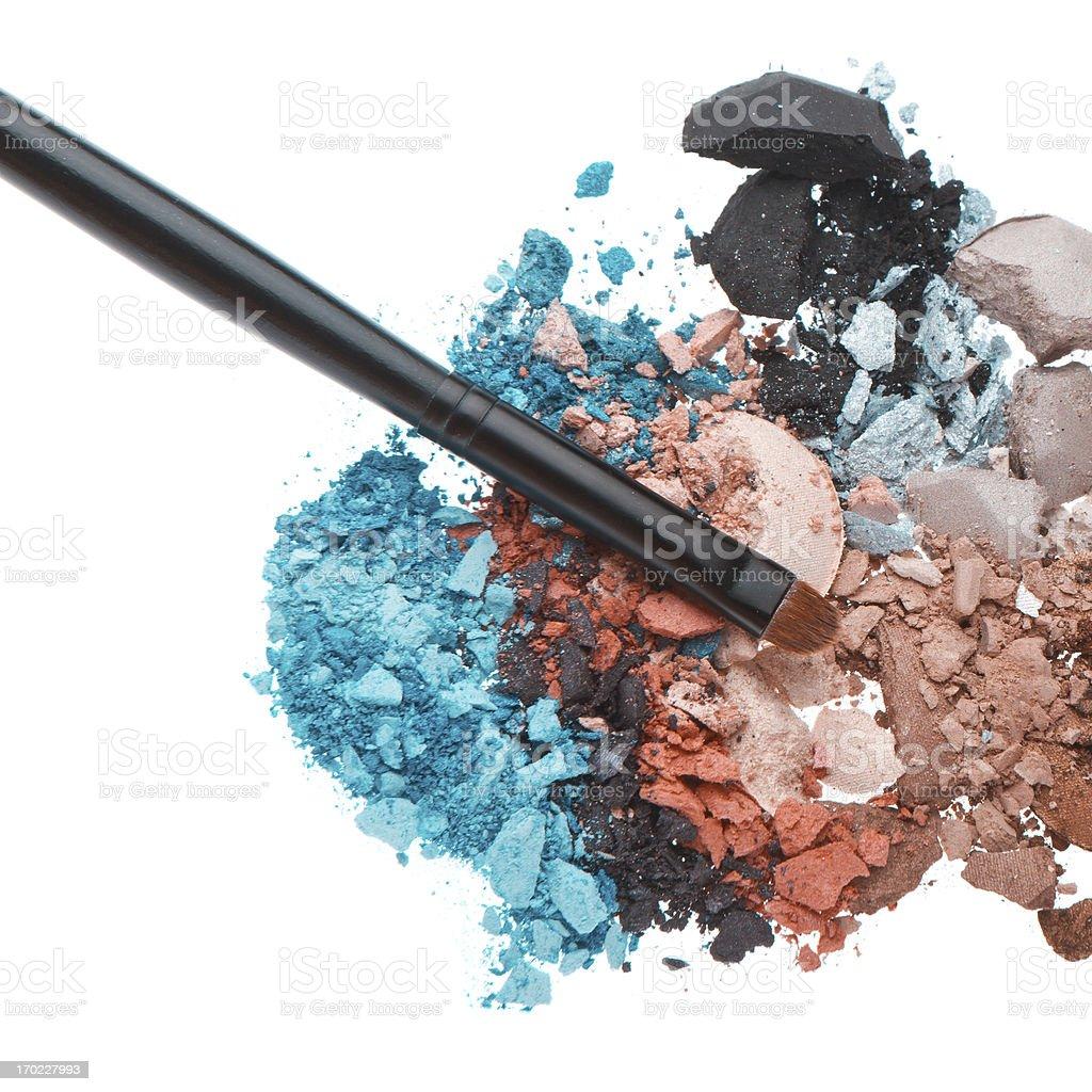 set of multicolor crushed eyeshadows royalty-free stock photo