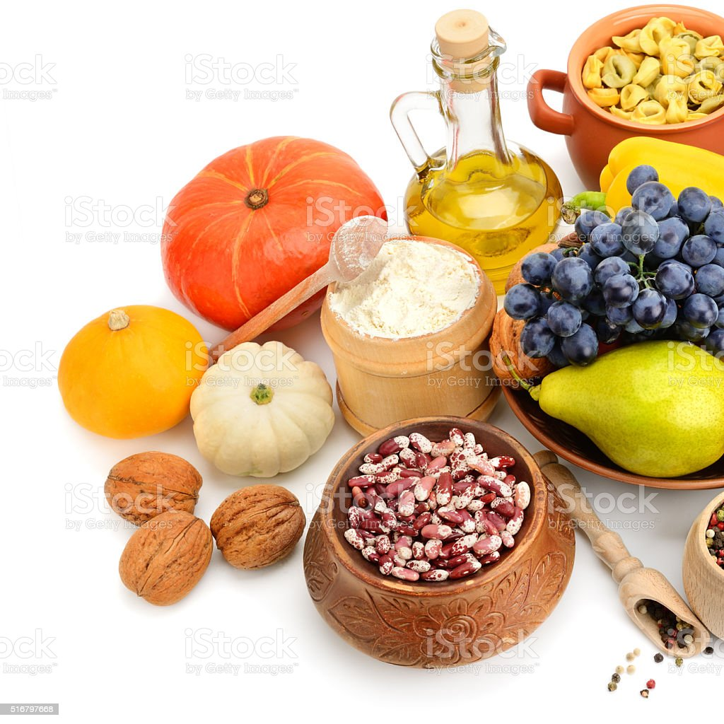 set of natural products stock photo