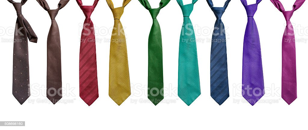 Set of neckties stock photo