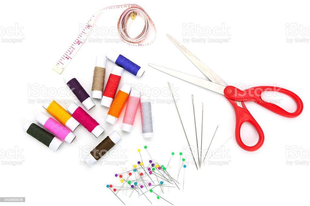 Set of needlework stock photo
