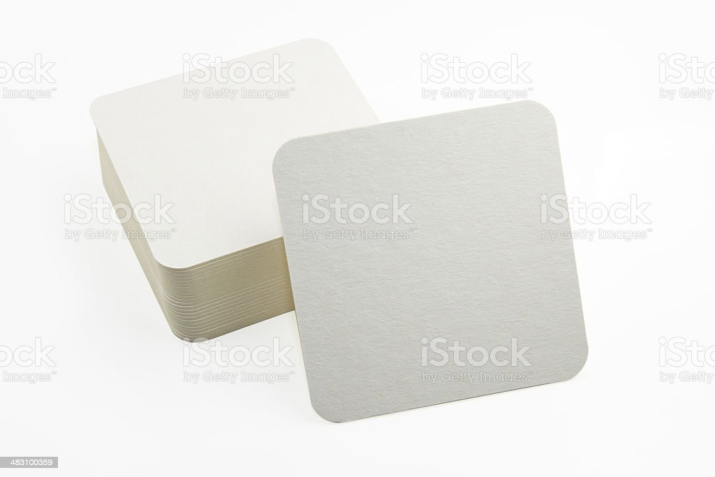 Set of new paper coasters stock photo