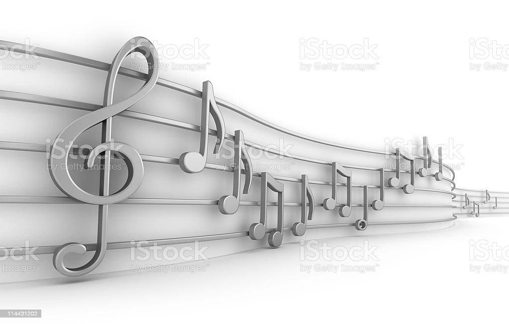 Set of nine musical notes royalty-free stock photo