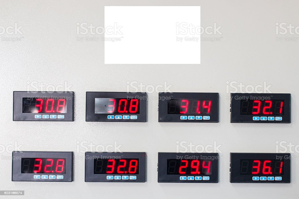 Set of Numeric display stock photo