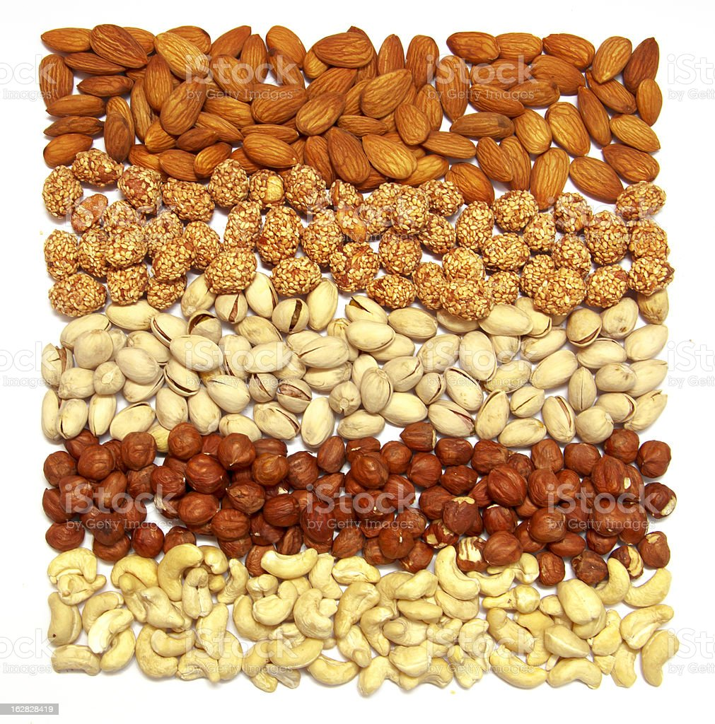 Set of nuts royalty-free stock photo