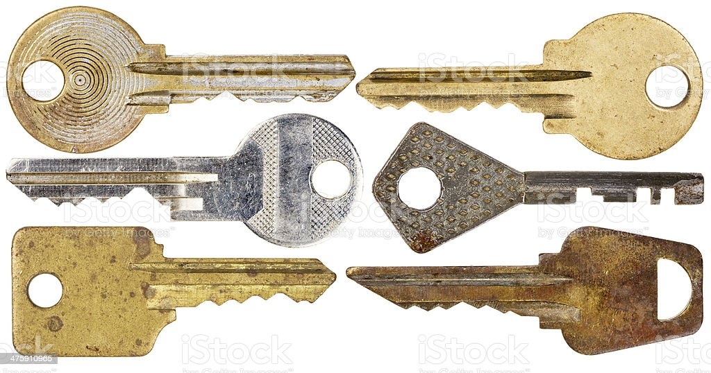 Set of old keys royalty-free stock photo