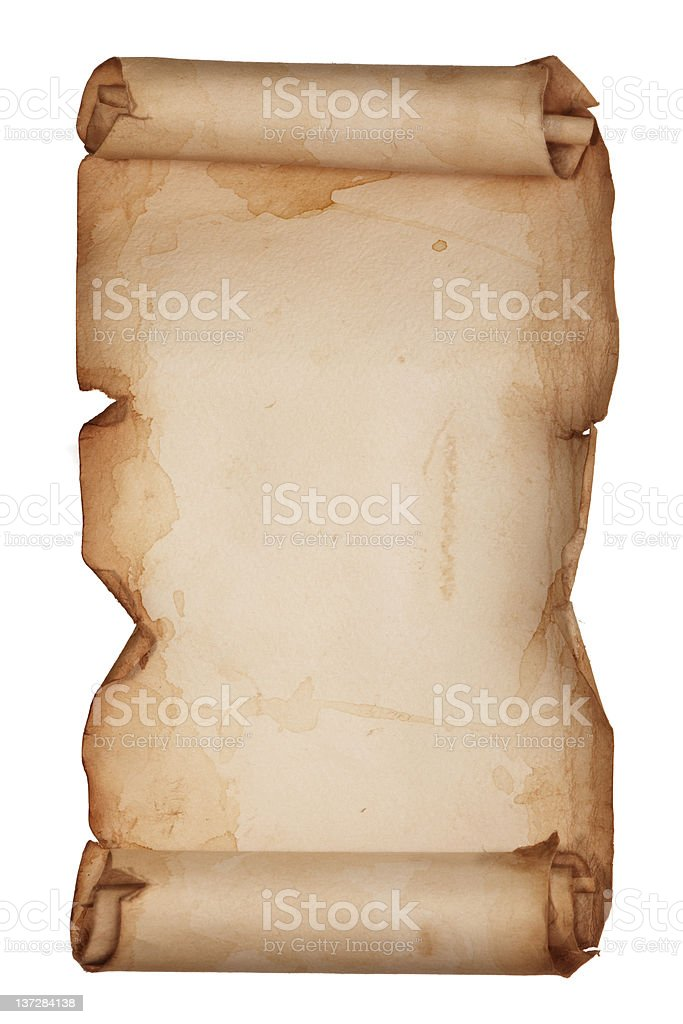 Set of old paper scroll. royalty-free stock photo