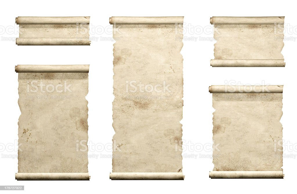 Set of old parchments royalty-free stock photo