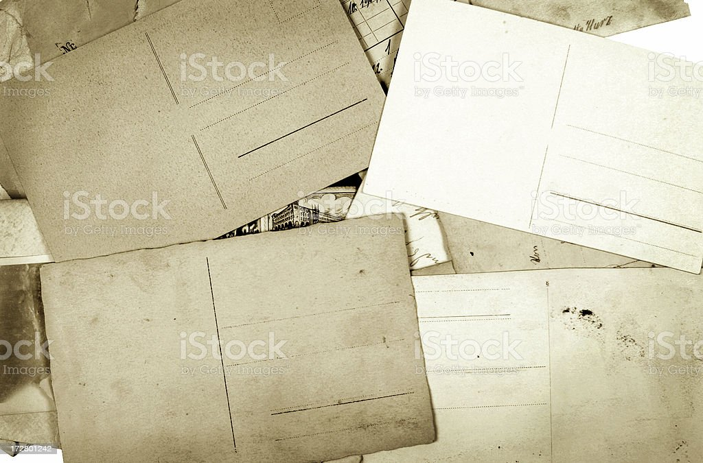 Set of old Postcards royalty-free stock photo