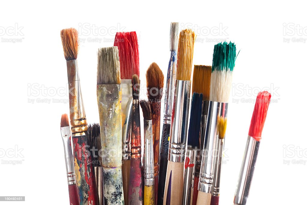Set of paintbrushes stock photo