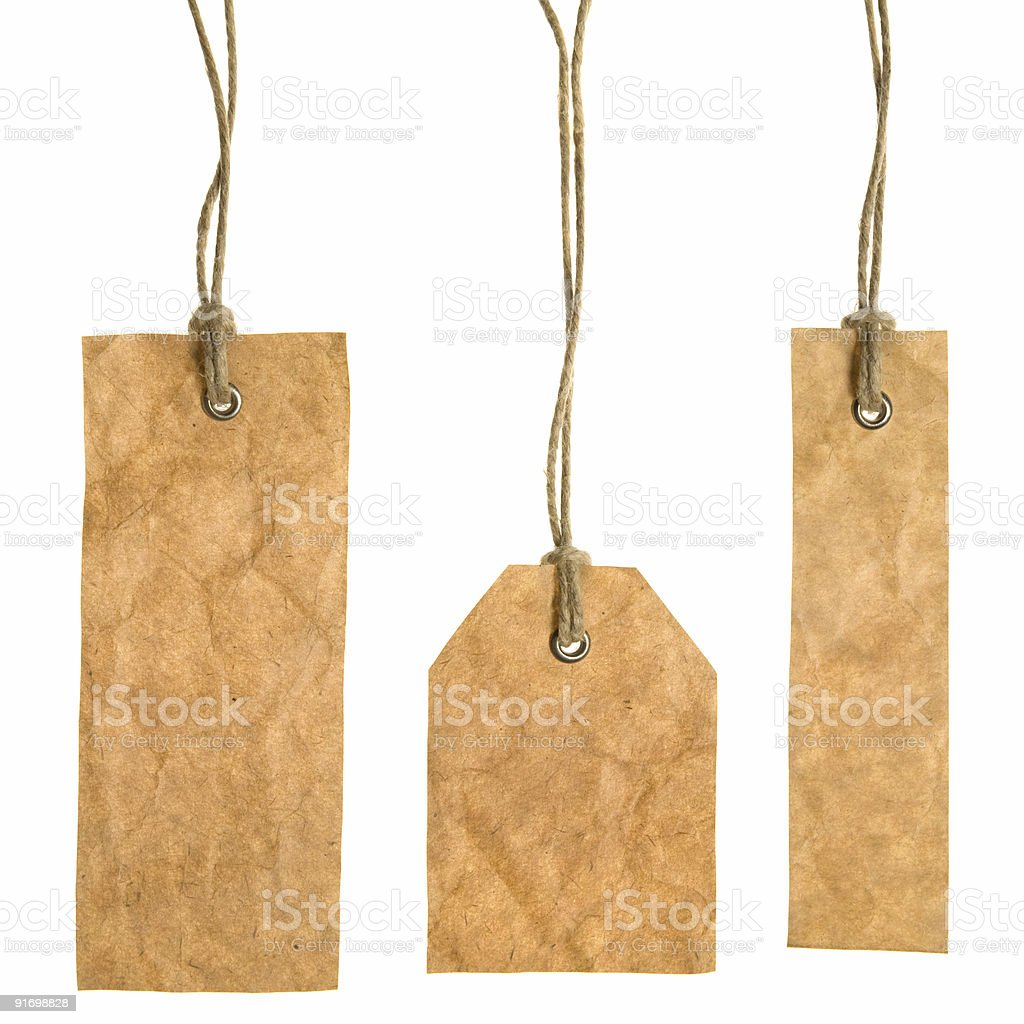 Set Of Paper Tags royalty-free stock photo