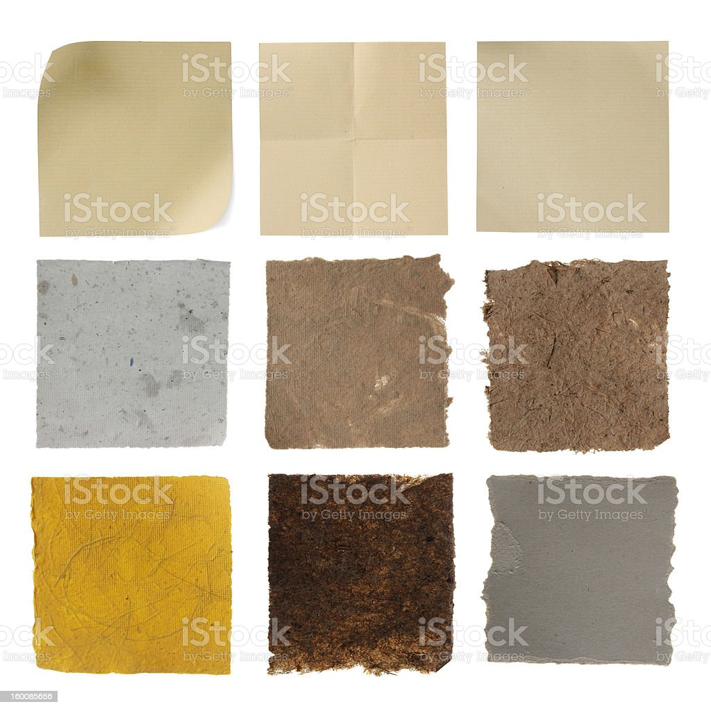 Set of paper texture royalty-free stock photo