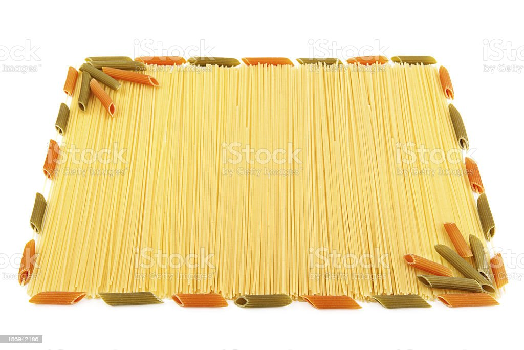 set of pasta on white background royalty-free stock photo