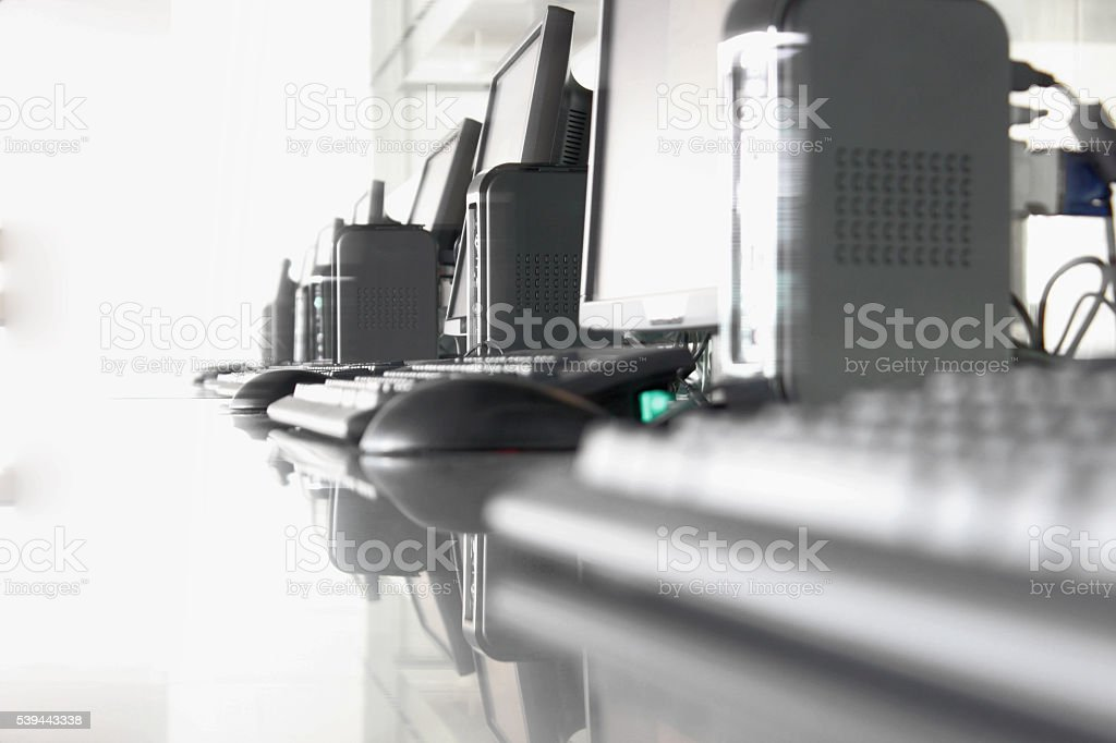 Set of PC Computers stock photo