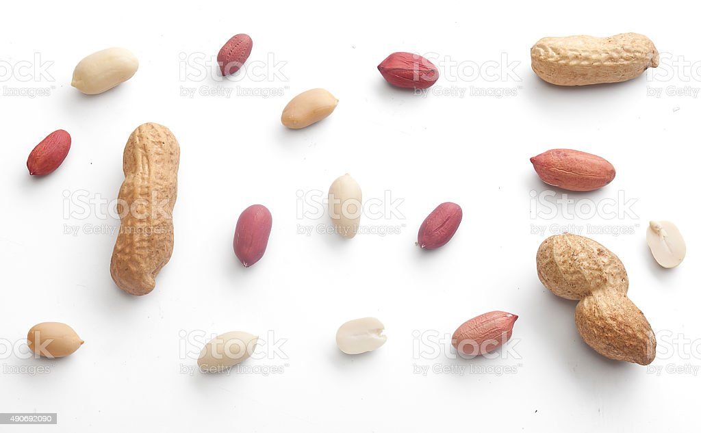 Set of peanuts stock photo