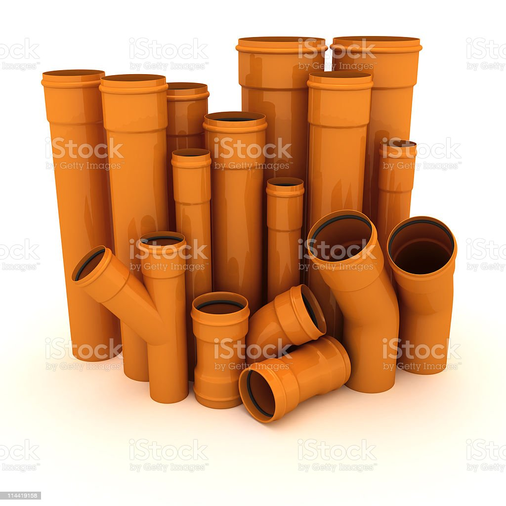 Set of pipes royalty-free stock photo