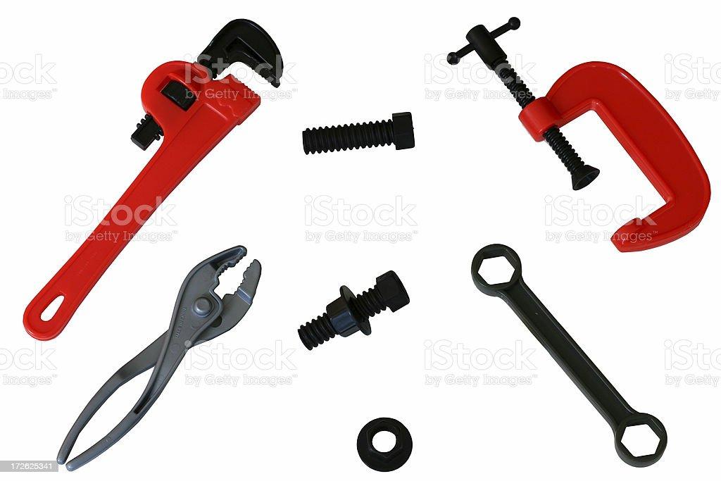 set of plastic tools royalty-free stock photo