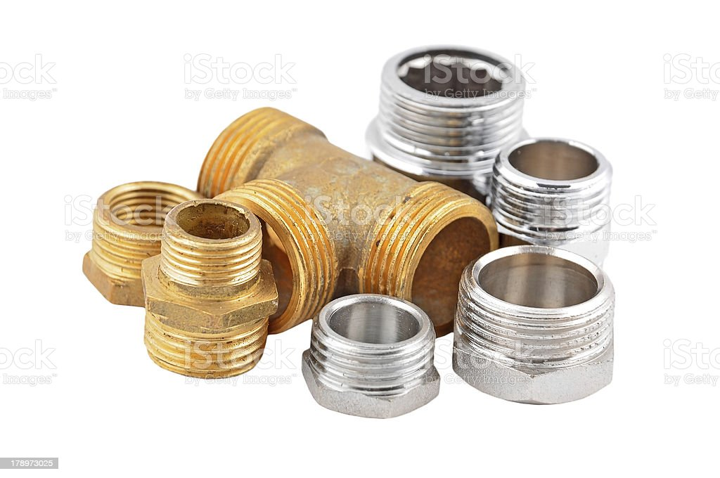 Set of plumbing elements royalty-free stock photo