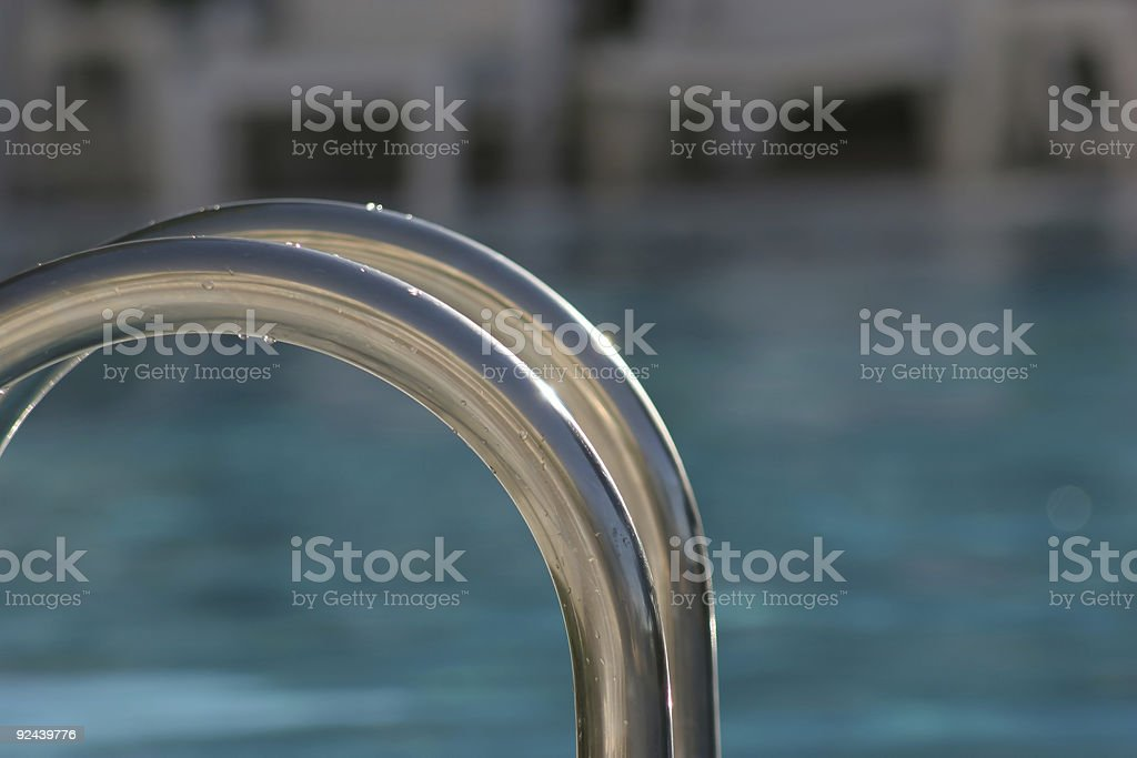 Set of Pool Steps stock photo
