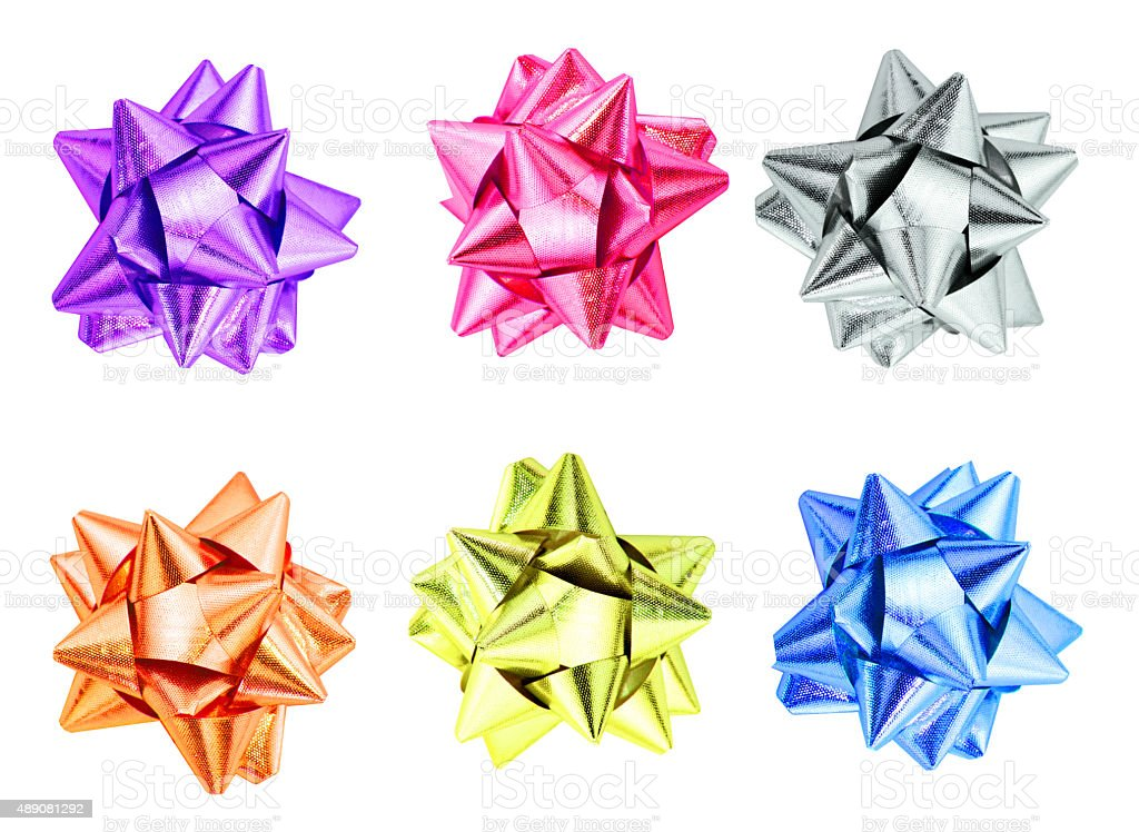 set of ribbon bows. stock photo