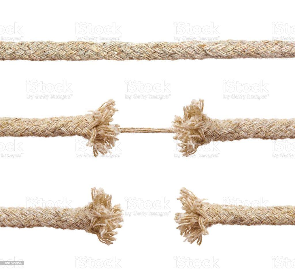 Set of ropes royalty-free stock photo
