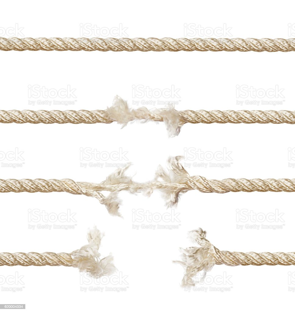 Set of ropes stock photo