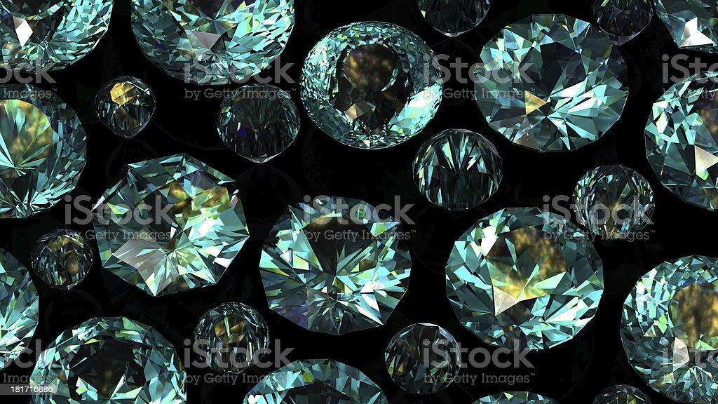 Set of round diamond. Gemstone stock photo