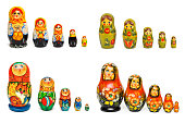 Set of russian toy matrioshka