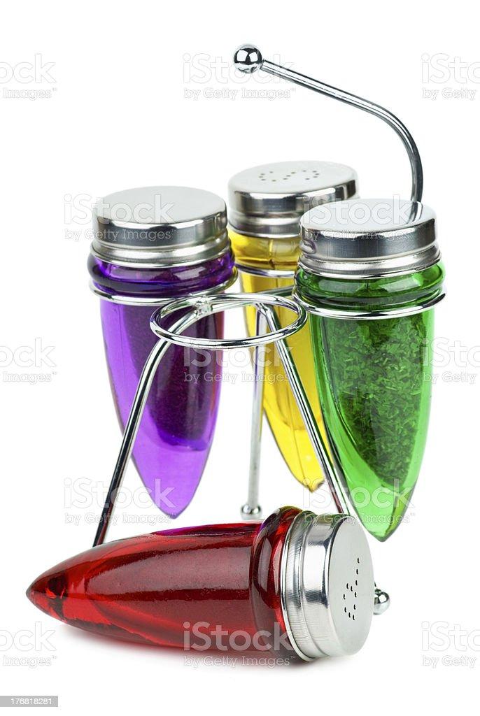 Conjunto de sal/pimenteiros e recipientes de Especiarias foto de stock royalty-free