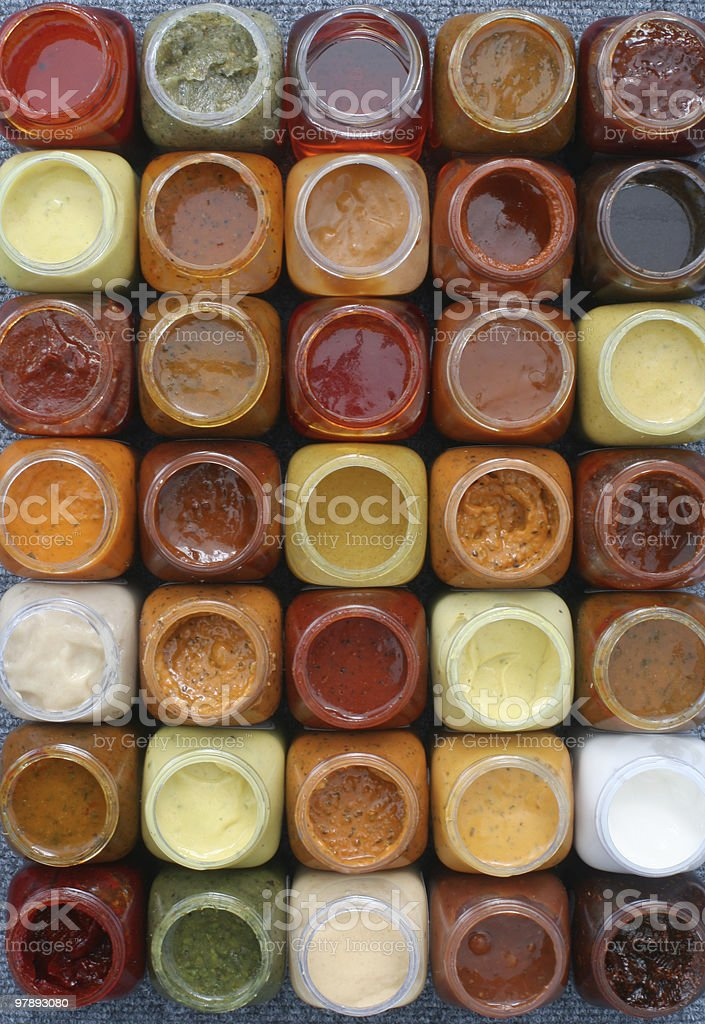Set of sauces and marinades royalty-free stock photo