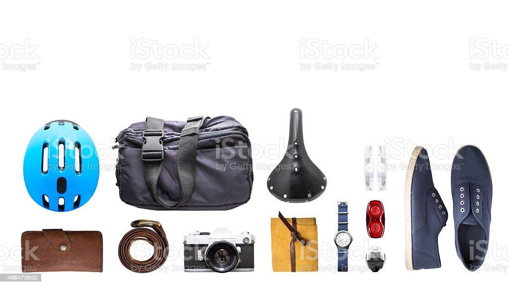 Set of several stuff stock photo