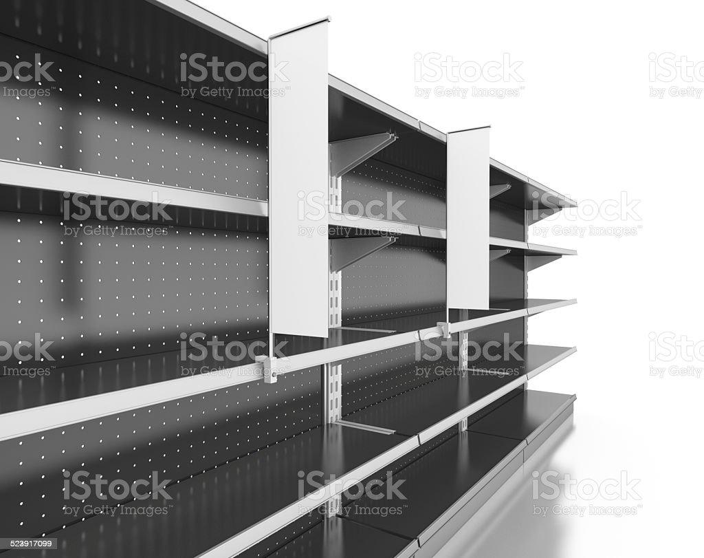 set of shelves stock photo