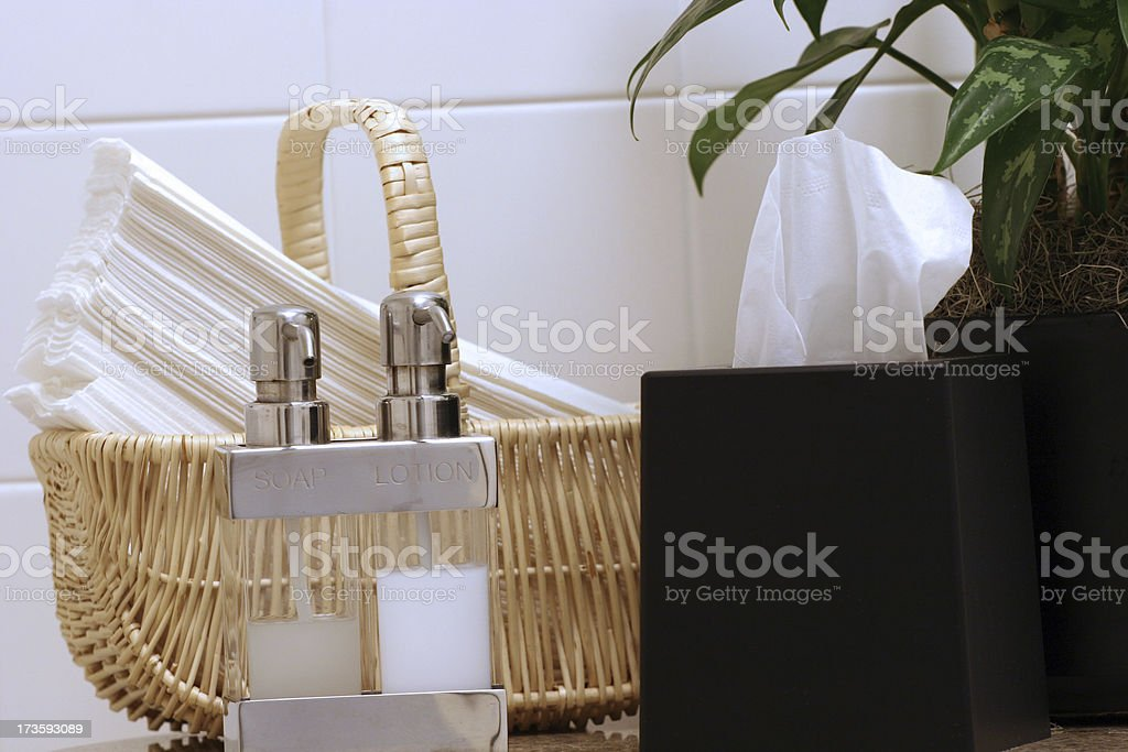 Set of Soap and Lotion royalty-free stock photo