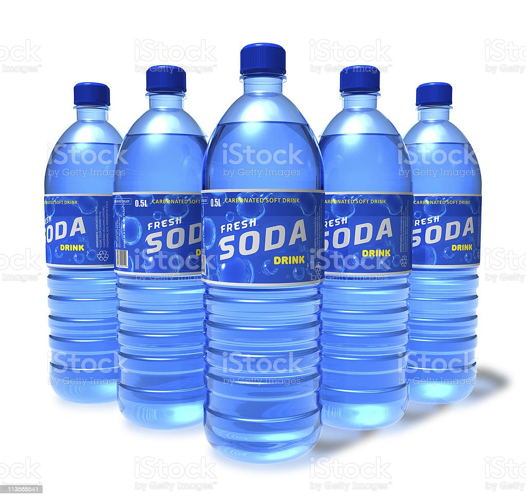 Set of soda drinks in plastic bottles royalty-free stock photo