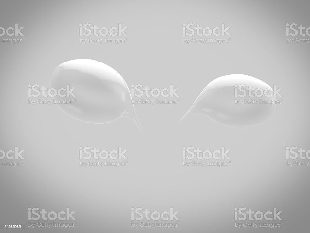 Set of speech and thought bubbles, element for design stock photo