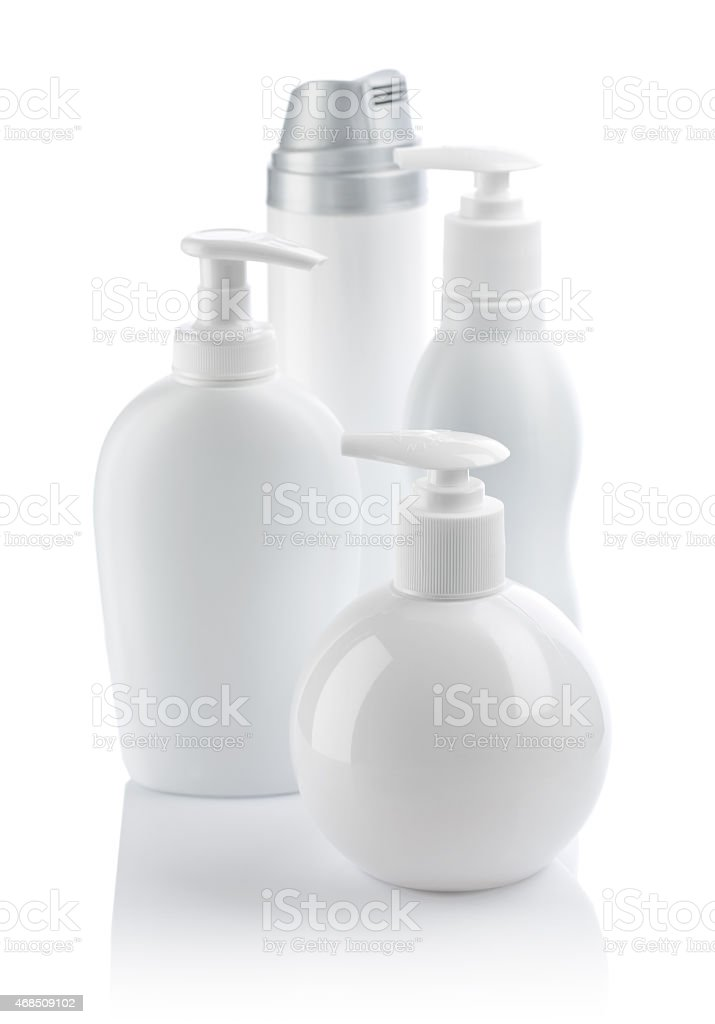 set of spray bottle stock photo