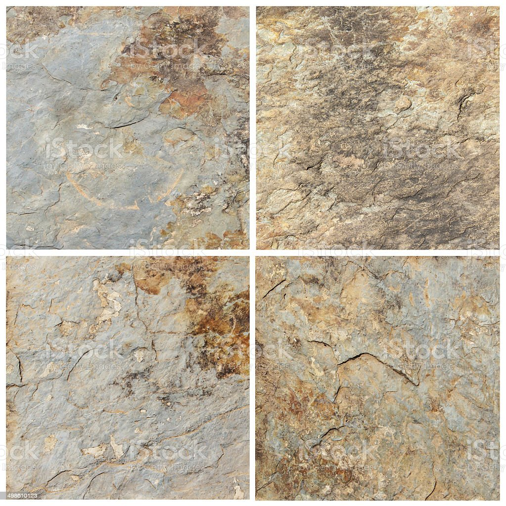Set of stone background and texture (High resolution) stock photo