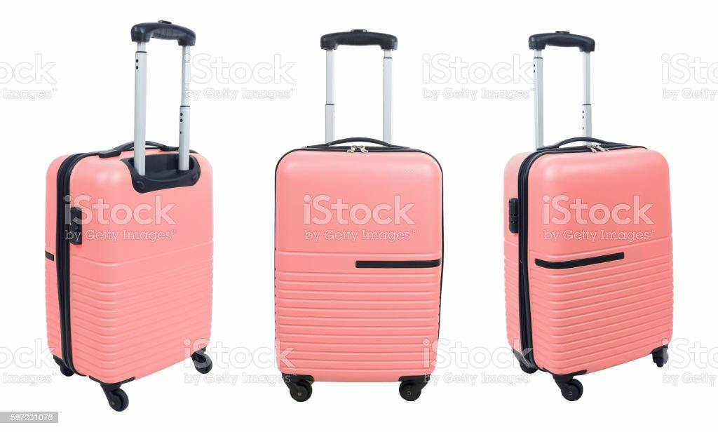 Set of -- suitcase isolated on white background. stock photo