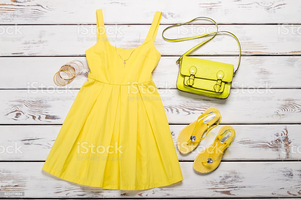 Set of summer clothes. Y stock photo