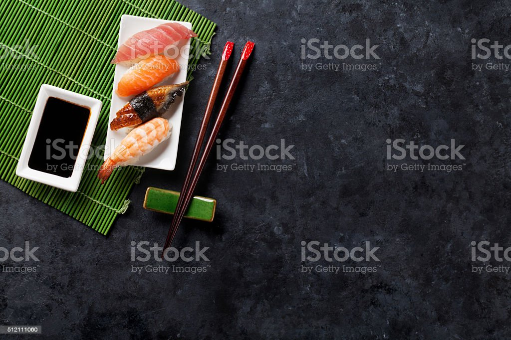 Set of sushi stock photo