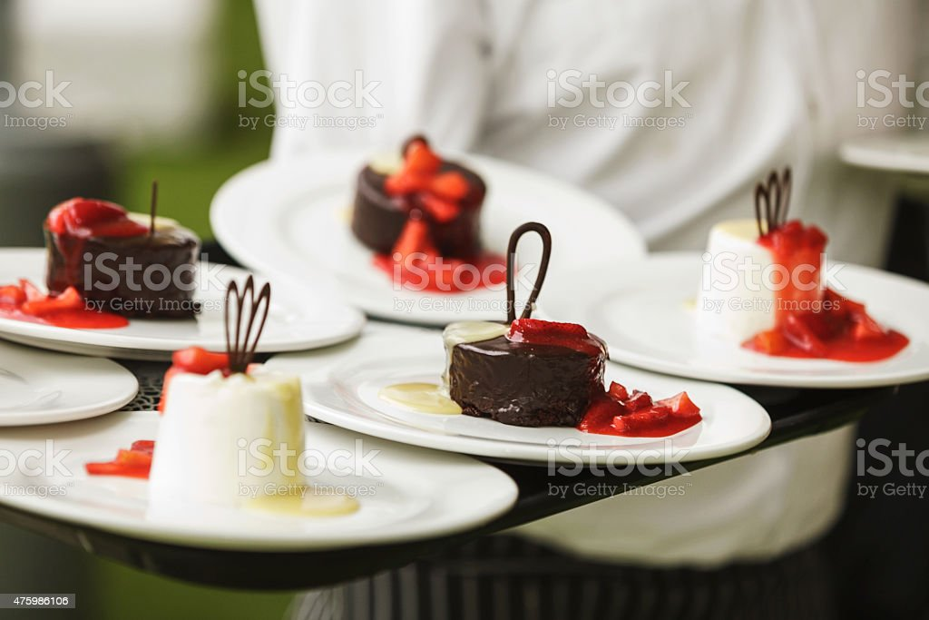 Set of sweets and desserts stock photo