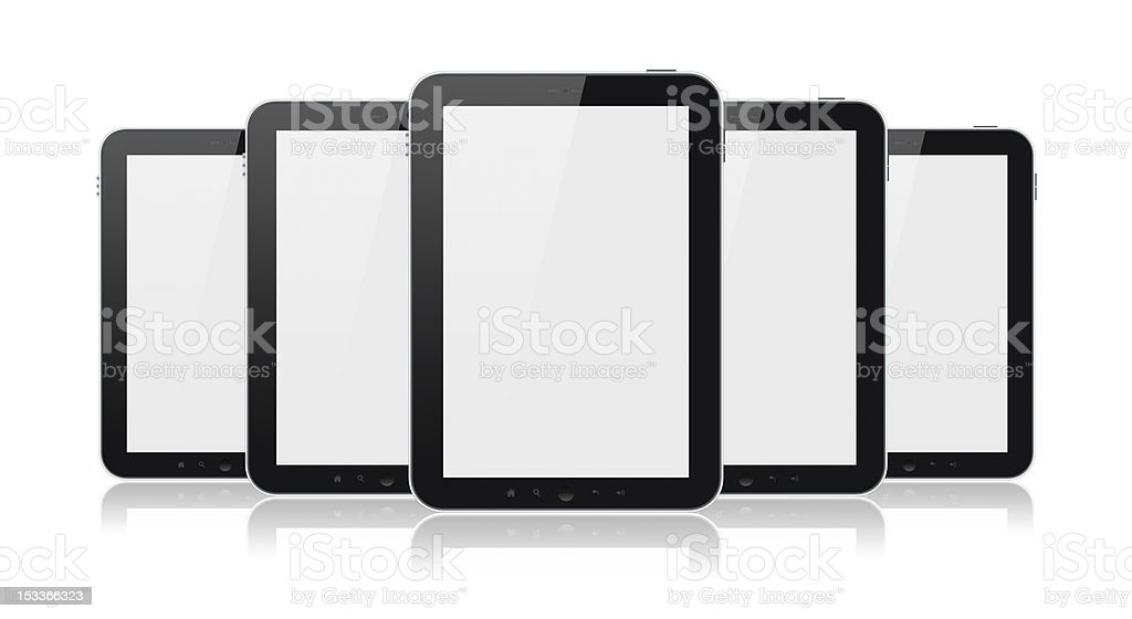 Set Of Tablet Computers Isolated royalty-free stock photo
