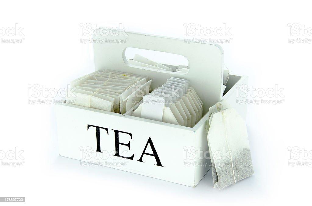 Set of tea bags royalty-free stock photo