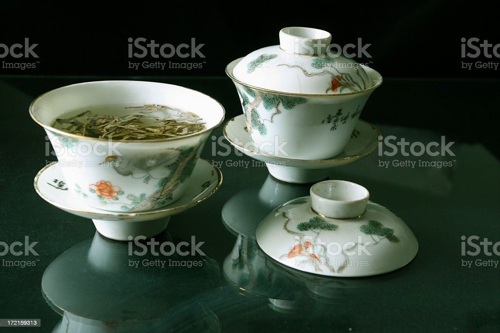 Set of tea cups royalty-free stock photo