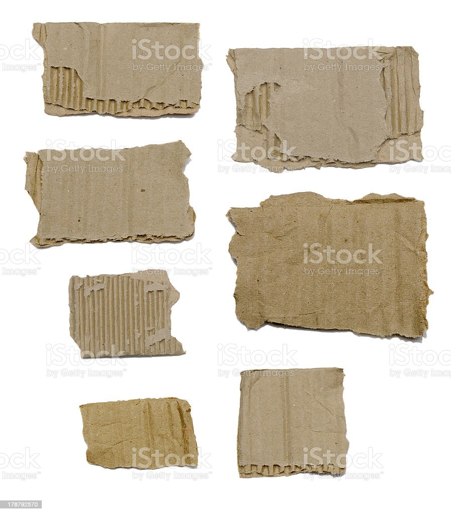 Set Of Textured Cardboard With Torn Edges royalty-free stock photo
