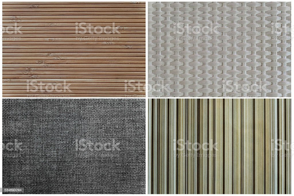 Set of textures stock photo