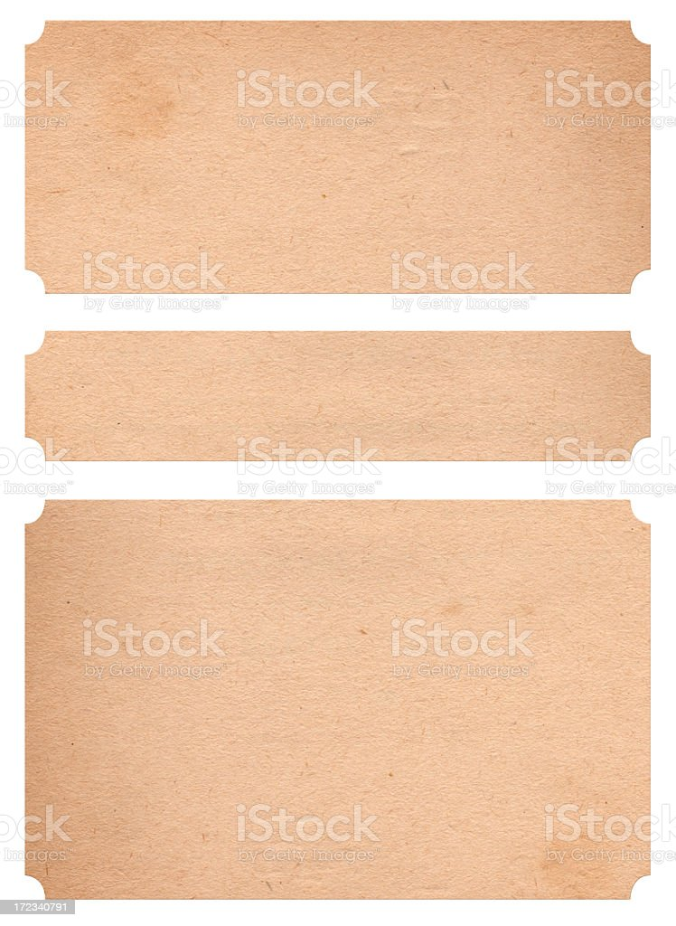 A set of three large paper bandages  stock photo