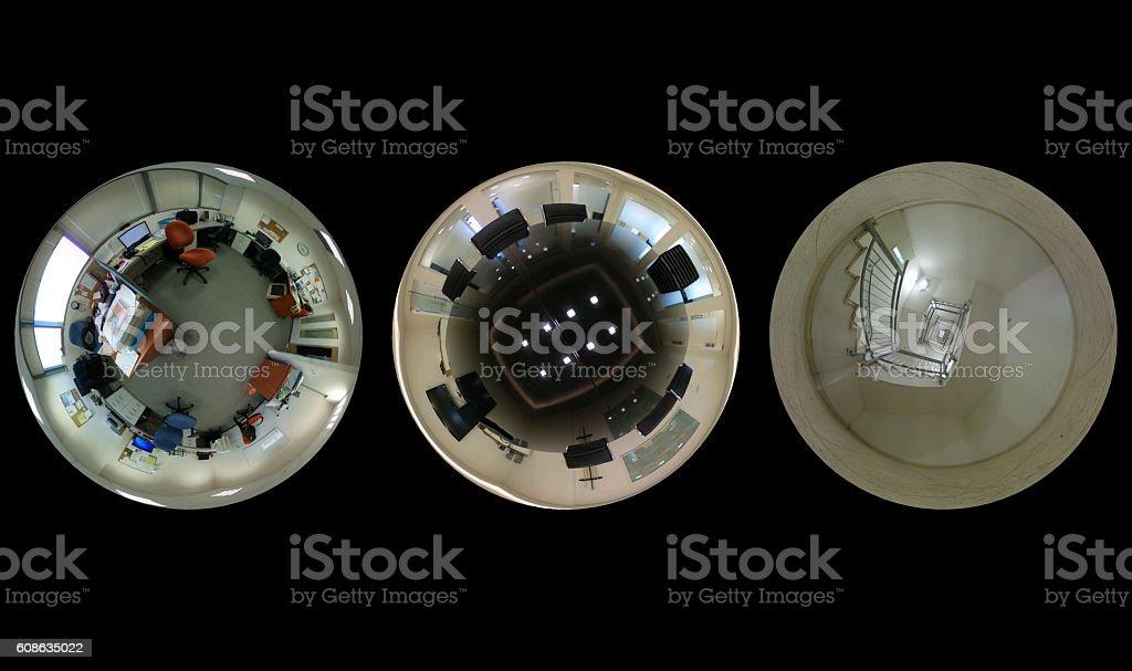 set of three pictures - Tiny world stock photo