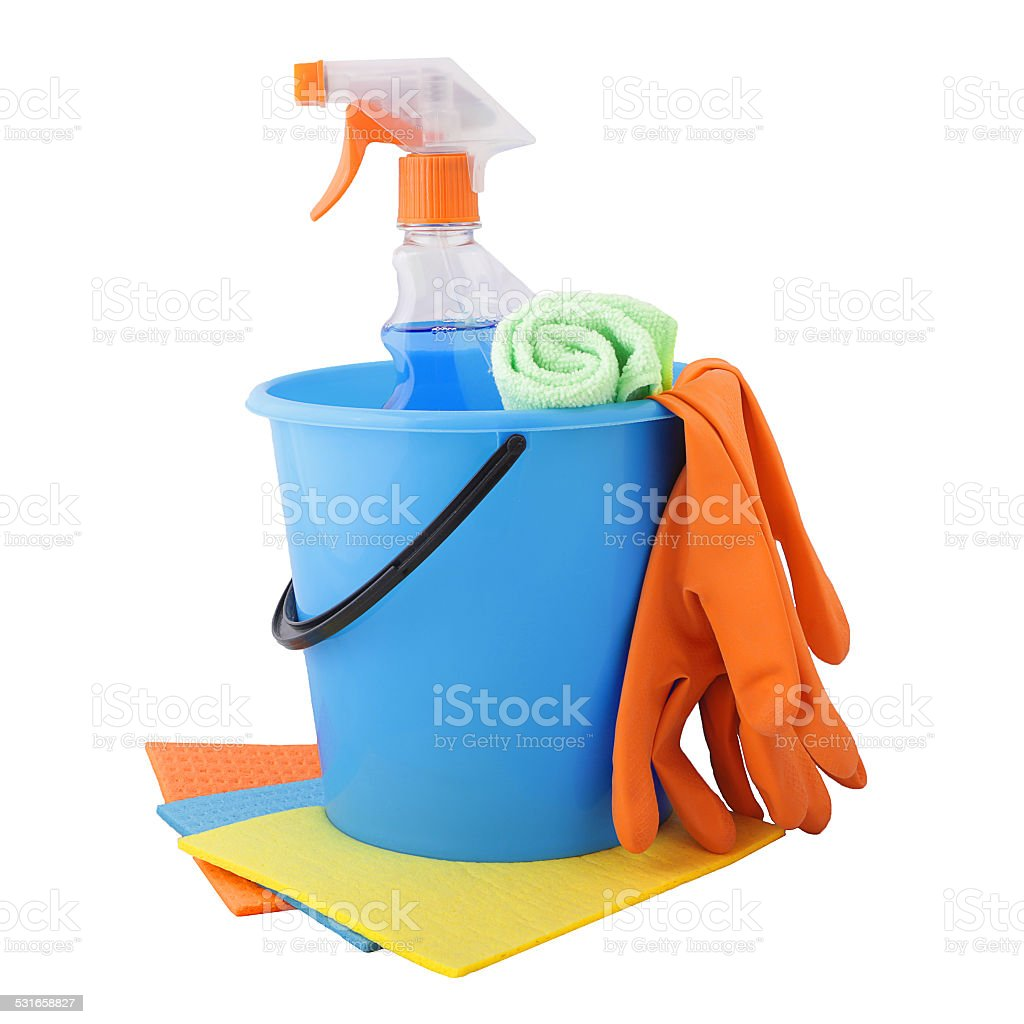 Set of tools for cleaning stock photo
