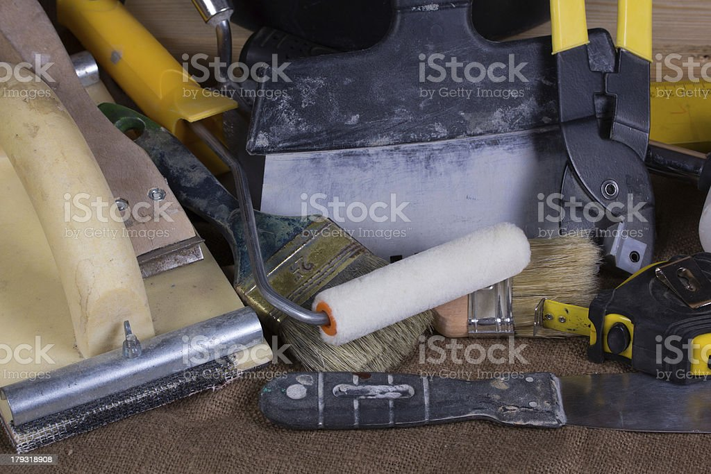set of tools royalty-free stock photo